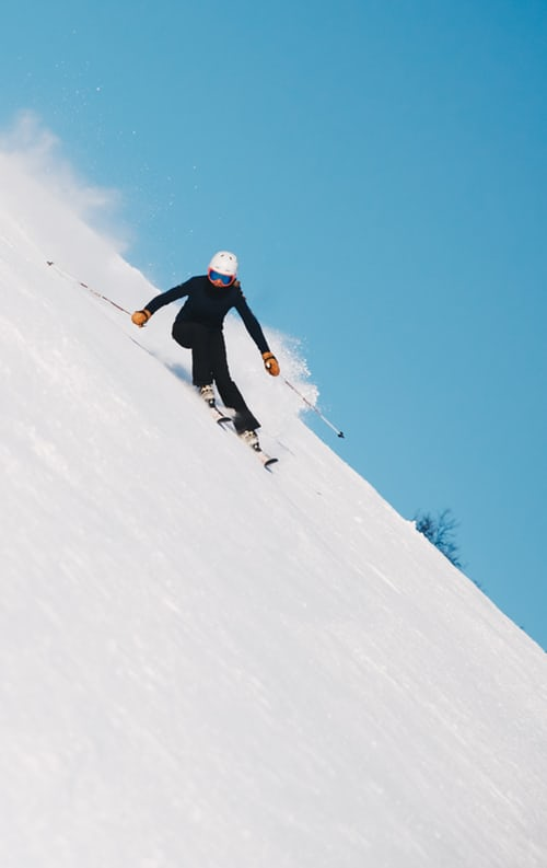 Best Ski Resorts - Downill skier #3