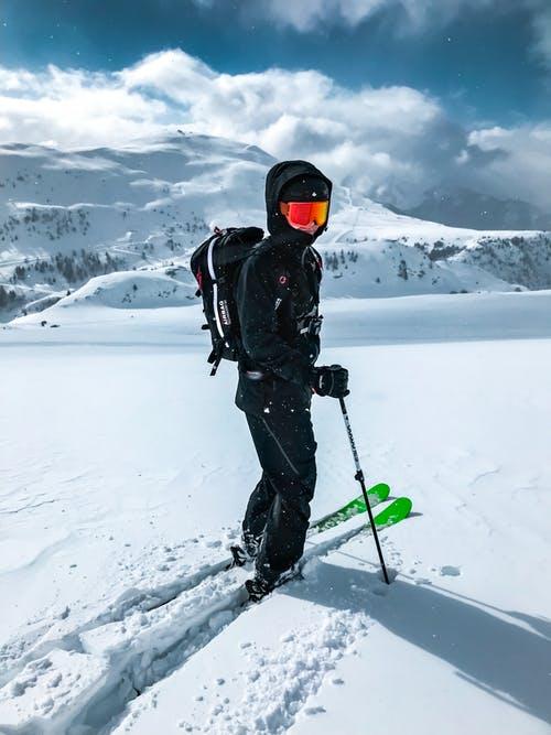 Ski trips - Lone skier