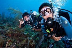 Travel Destination - pic of scuba divers